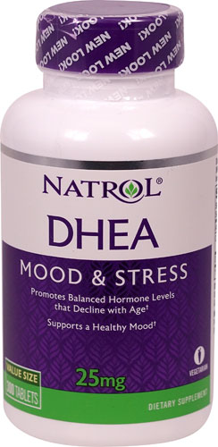 Natrol DHEA Mood & Stress -- 25 Mg - 300 Tablets Free Shipping NEW VERSION
