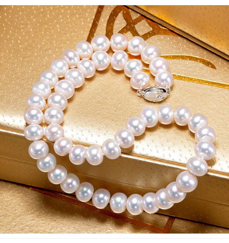 Women Gift word 925 Sterling silver real Genuine natural fresh water without strong pearl necklace 2015 arrival real 21 30 years beleza fresh fruit tea super peach detox beauty freckle natural without added herbal
