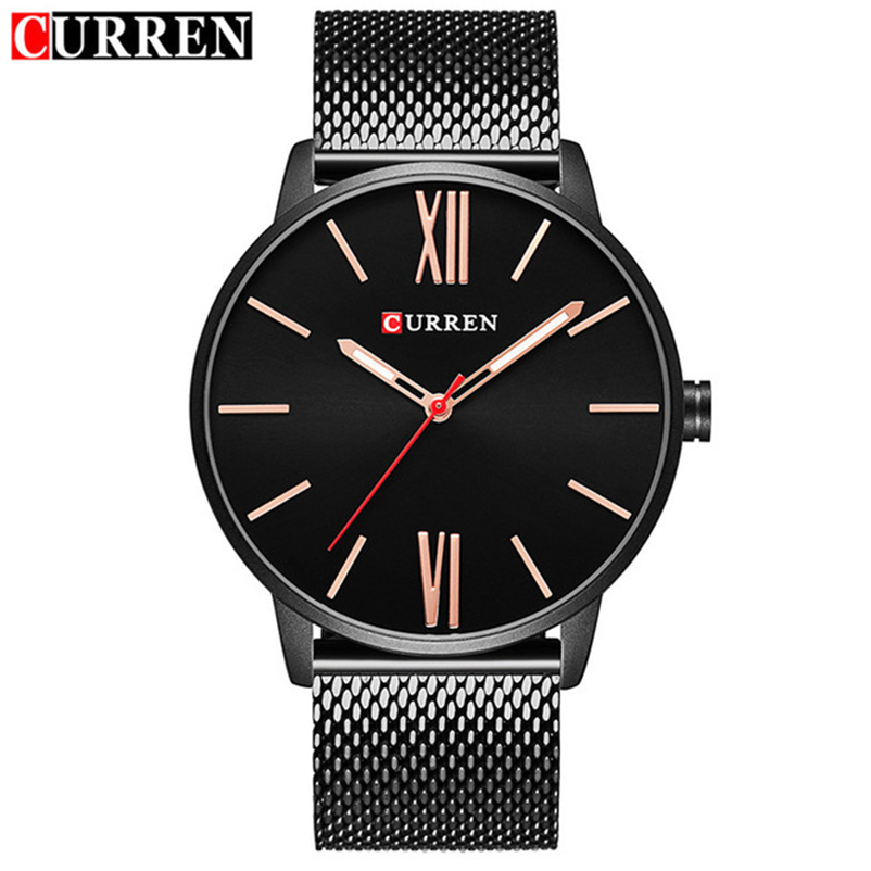 Image 2 - CURREN Top Brand Mens Watches Luxury Quartz Casual Watch Men Stainless Steel Mesh Clock relogio masculino 8238 Drop Shipping-in Quartz Watches from Watches