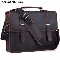 Брендовая сумка из натуральной кожи для мужчин, известный дизайнер, ноутбук, Компьютерная сумка через плечо, винтажная воловья кожа, школьн