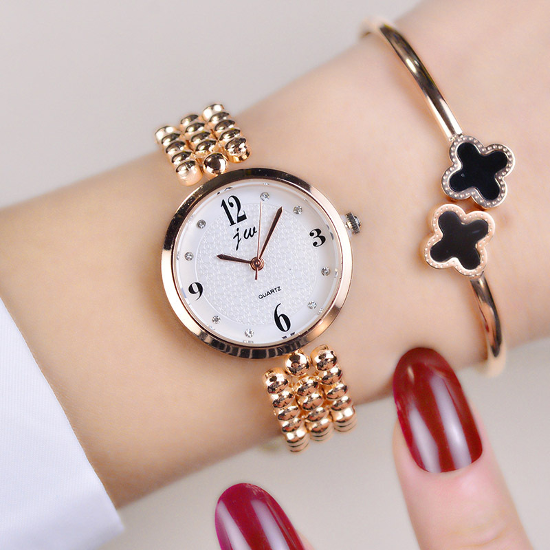 2018 New Brand Jw Quartz Watch Women Luxury Gold Silver Wristwatches Ladies Simple Crystal Bracelet Watches Female Clock Gifts