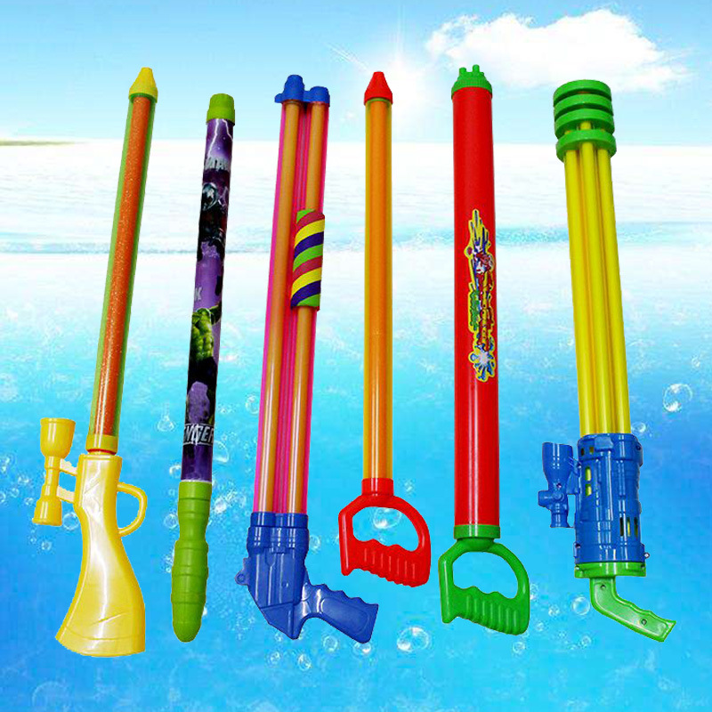 Water Play Large Five-hole Draw Type Plastic Water Gun Gatlin High-pressure Water Gun Beach Water Play Children's Toys