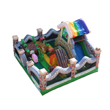 kids inflatable trampoline bouncer house,inflatable jumping bed kids fun city YLW-TC46