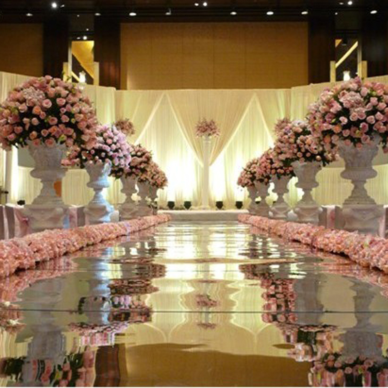 Wedding Mirror carpet T-stage aisle runners super bright wedding carpet 1M Width by 10M length wedding props