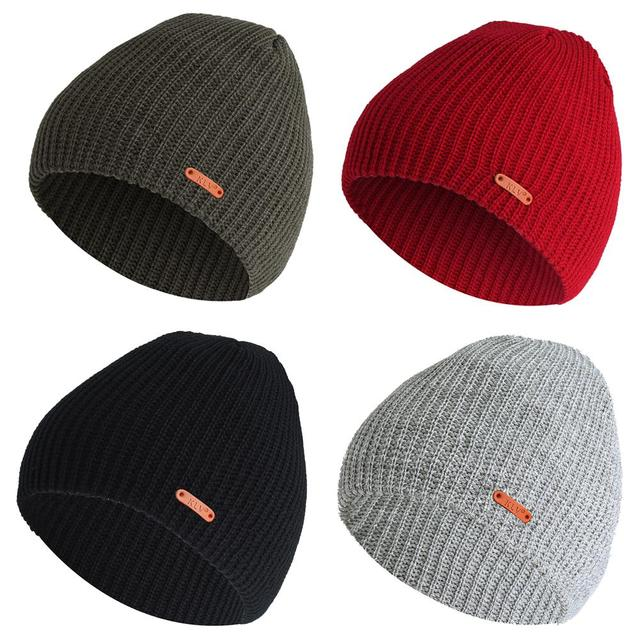 e07acb9f88e Autumn And Winter Casual European And American Style Men s And Women s Flat  Shape Short Vertical Stripes Knit Hat Drop Shipping