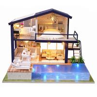 DIY Cottage Hut Small House Wooden Manual Assembly Home Decoration Holiday Birthday Gift Apartment Ornaments 2019 New