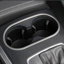 Интерьер автомобиля центр Управление держатель стакана воды Панель декоративное покрытие отделкой Нержавеющаясталь газа для Audi A3 8 V 2013-2018