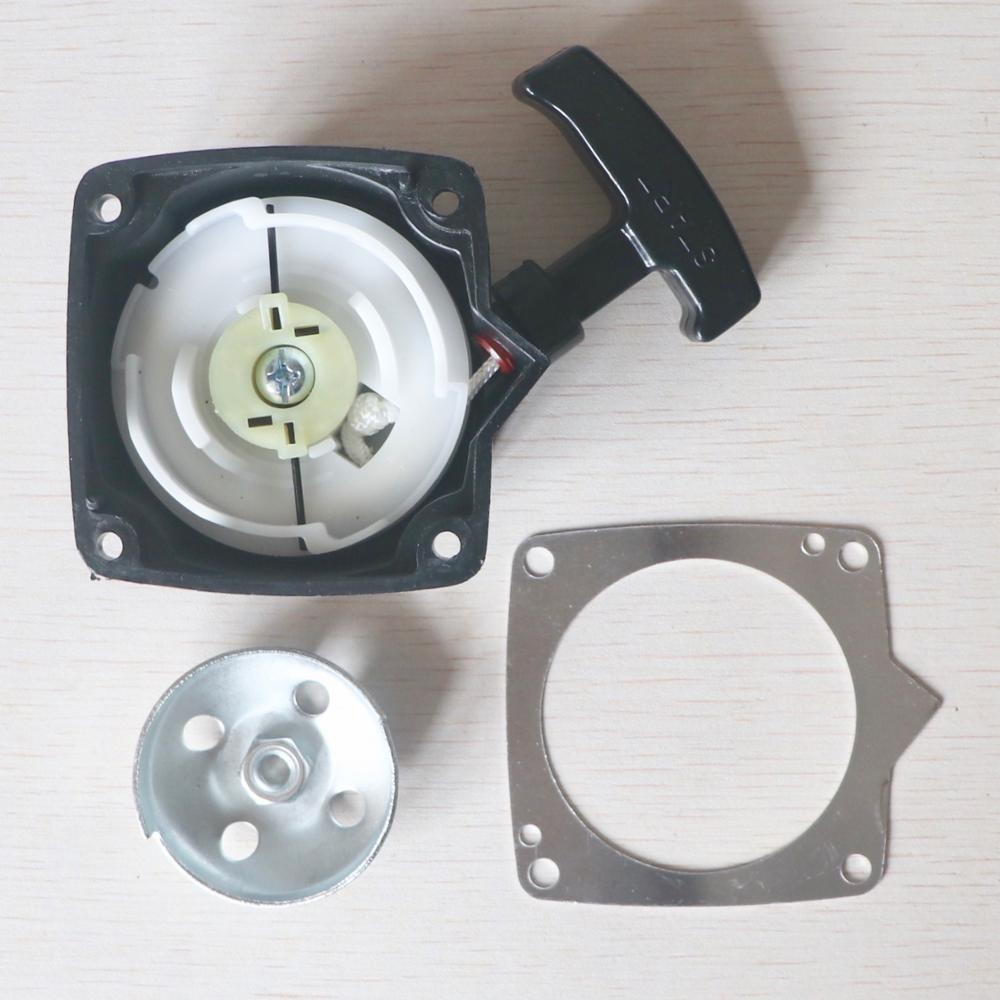 Steel Wire Type Starter & Pulley & Starter Gasket Fit For 40-5 430 42.7cc 43cc Grass Trimmer Grass Cutting Machine