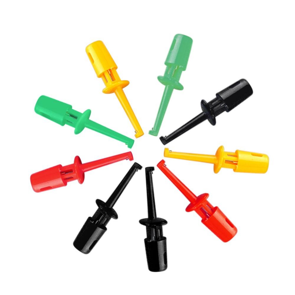 New Multi-color 10 Pcs Mini Test Hook Clip Test Probe Testing SMD Grabber Best