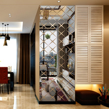 Creative INS customize diamond DIY childrens room bedroom home TV background wall 3D acrylic mirror decal sticker