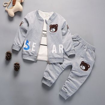 Newborn Kids Clothes Baby Boy Fashion Clothing Set 3PCS Tracksuit Autumn Spring Costume Toddler Children Outfits 1 2 3 4 Years 1