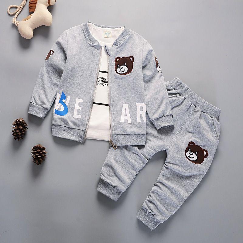 filhos recem nascidos roupas de bebe menino conjunto de roupas de moda 3pcs agasalho primavera outono