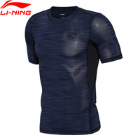 Li Ning Professional Training T Shirt Tight Fit 88 Polyester 12 Spandex LiNing Sports T Shirts