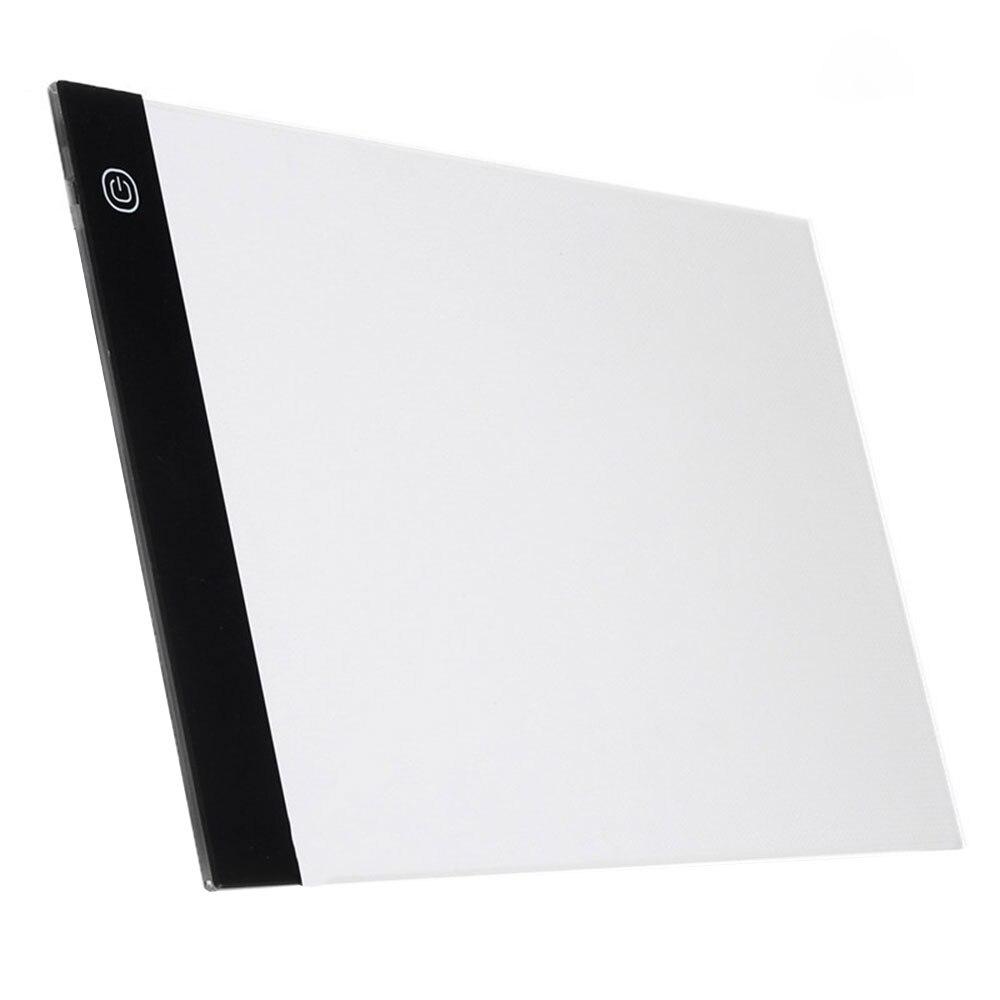A5 графический планшет прочный чертежный светильник в виде планшета коробка Трассировка доска мини аниме USB IP65 5 в акриловая Электроника - Color: USB Stepless dimming