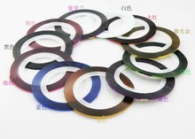 2pcs 22 Colors Nail Art Decorations Tips Nail Art Sticker Manicure Striping Tape Line for toes