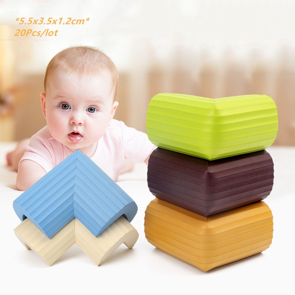 20Pcs Corner Protector 6cm Children Protection Soft Table Desk Furniture Child Safety Corner Guard Baby Safety Edge Angle Bar