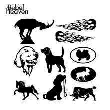 Rebel niebo Car Styling śmieszne JDM Mountain kozy Golden Retriever pies biegnący koń Vinyl samochodów naklejka na Auto okno zderzak