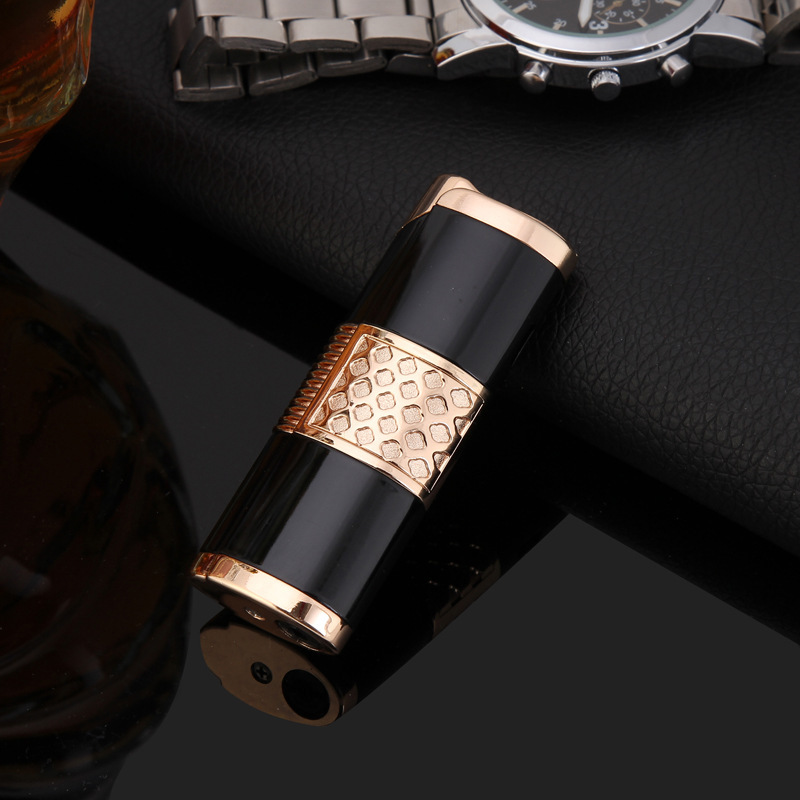 Image 4 - 2019 New Cigar Lighter Pen Torch Turbo Lighter Compact Jet Lighter Gas Windproof All Metal 1300 C Butane No Gas-in Matches from Home & Garden