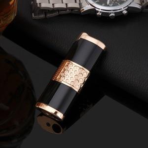 Image 4 - 2019 Nuovo Cigar Lighter Pen Torcia Turbo Accendino Compact Jet Accendino A Gas Antivento All Metal 1300 C Butano No Gas