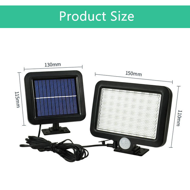 Waterproof Outdoor Solar Wall Light with 56 LED with PIR Motion Sensor for Garage and Yard 2