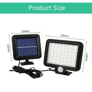 Image 3 - Iluminação led 56 leds, para parede, com sensor de movimento pir, para áreas externas, à prova d água, sensor infravermelho, para jardim