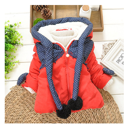 dbdbd995561b Free shipping 2014 new winter jacket 2-3-4 year old infant children baby  clothes thick coat children s clothing for girls G0066