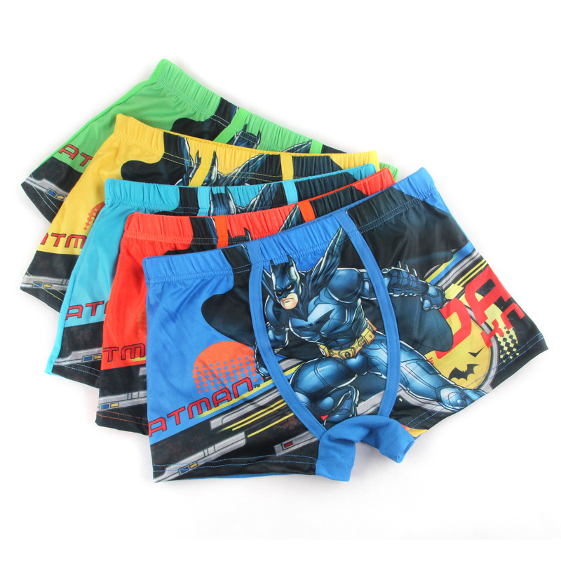 3 to12 years kids boys silk underwear Batman Figure male cartoon printed child underwear boys comics boxers briefs   panties