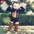 2016 Halloween Baby Rompers Autumn Long Sleeve Bebes Boys Jumpsuits Clothes Cotton Infantil Newborn Girls Onesie Clothing