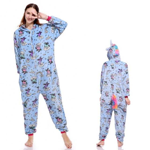 b084a1d356 Wholesale Autumn Winter Unicorn Pajama Sets Cartoon Sleepwear For Men Women  Pajama Flannel Animal Stitch Flying Horse Pajamas