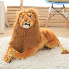 Free shipping emulate lion plush animal stuffed toy for friend kids children boys girls birthday party gifts wild jungle king