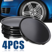 Wheel Center Caps 4pcs/set Universal Car Vehicle Hub 63mm Black Cap Cover Mayitr