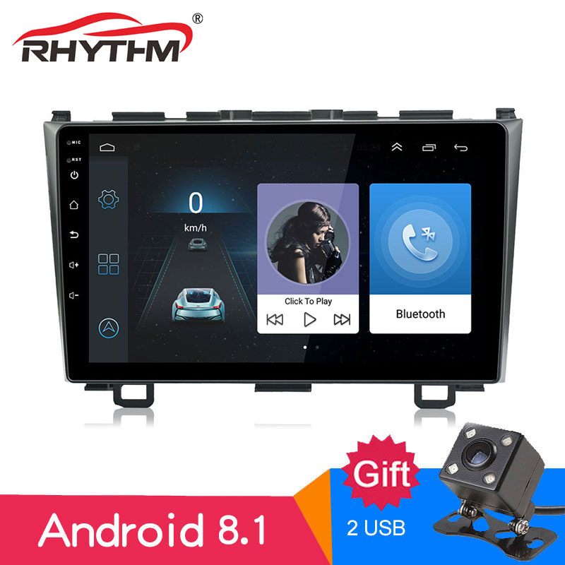 Radio Estéreo con GPS para coche, Radio con Android 8,1, 9 pulgadas, 2 GB de RAM, 16 Gb de ROM, Bluetooth, pantalla FM 2008x2009, para Honda CRV 2010, 2011, 1024, 600