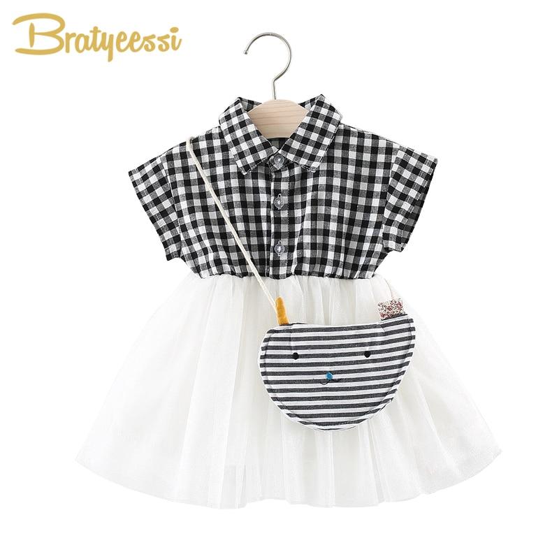 6c0cfa2f93d2 Αγγλία Πλεκτό φόρεμα κορίτσι μωρών με τσάντα Tulle Βαμβακερό φόρεμα ...