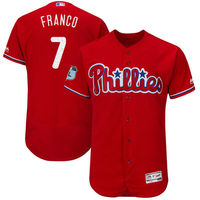 MLB Men's Philadelphia Phillies Maikel Franco Baseball Scarlet 2017 Spring Training Authentic Flex Base Player Jersey