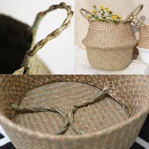 Image 5 - Pot de fleurs moderne en osier, panier de fleurs en rotin suspendu, Pot de fleurs moderne, fait à la main, décoration de la maison