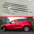 For Mazda 2 Demio 2015 2016 DJ DL Accessories Mazda2 Stainless Steel Door Window Trims