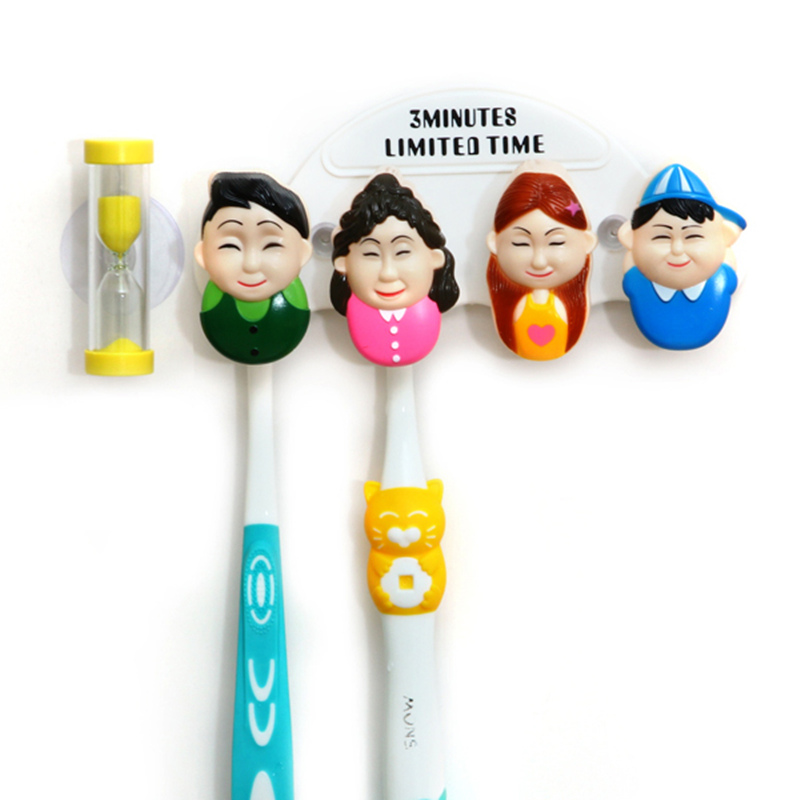 Creative family classification portrait toothbrush holder cartoon sucker couple toothbrush storage for bathroom accessories
