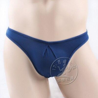 Men's underwear men's sexy slim soft transparent ice silk sexy underwear briefs gay underwear