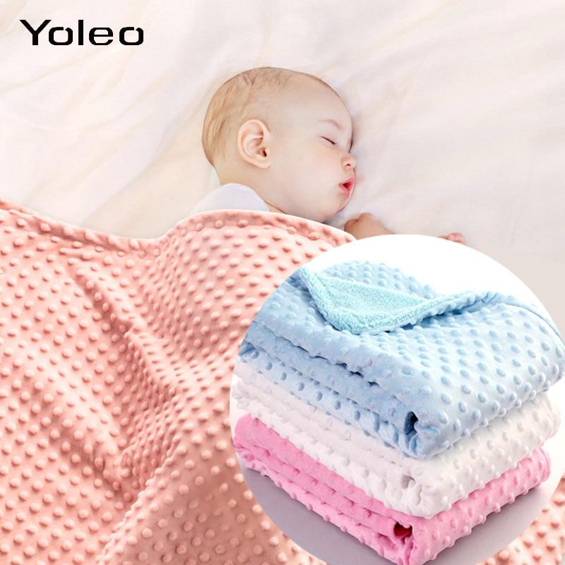Baby Blanket Swaddle Newborn Baby Blanket Soft Fleece Blanket Solid Bedding Set Cotton Quilt For Baby Blankets Newborn Girl Boy