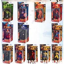 Avengers oändlighet krig Iron Man Captain America Thor Batman Flash Thanos med LED Light PVC Action Figur Collectible Model Toy