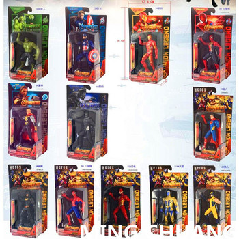 Avengers infinity war Iron Man Captain America Thor Batman Flash Thanos with LED Light PVC Action Figure Collectible Model Toy  legos for boys ninjago