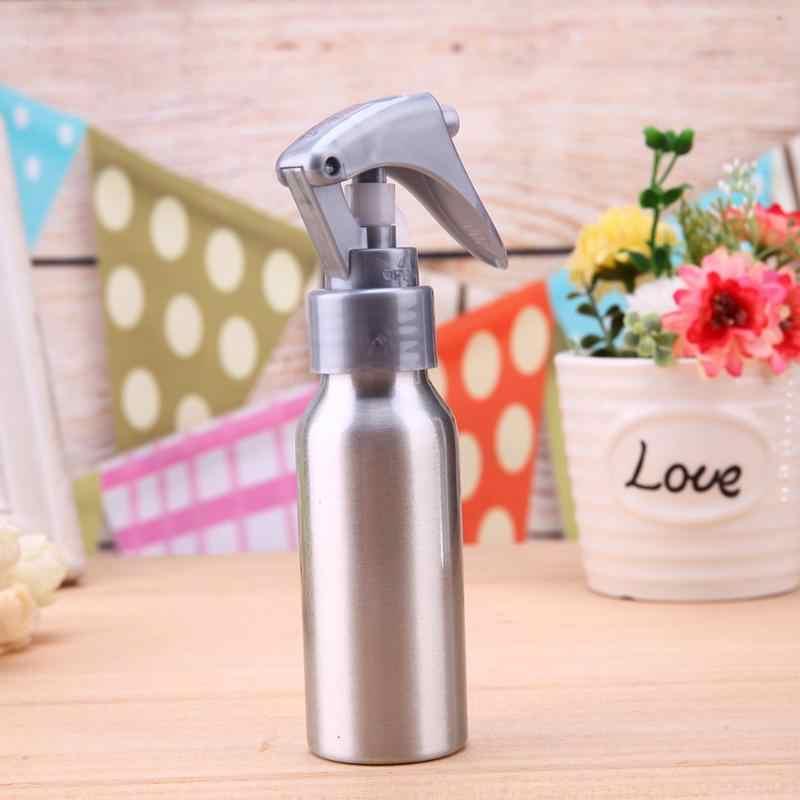 60ml aluminium Salon fryzjerski opryskiwacz butelki wielokrotnego użytku Pro fryzjerstwo Spray do wody puste butelki aplikatora narzędzia do stylizacji