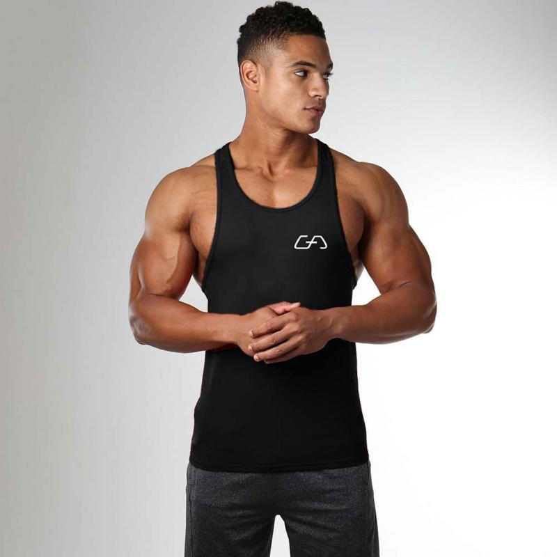 New mens sleeveless   Top   Brand Cotton Male   Tank     Tops   gyms Clothing Bodybuilding Undershirt Golds Fitness tanktops tees #3