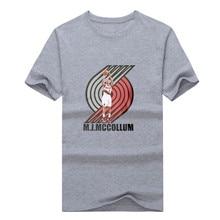 2017 C.J. McCollum Shoot logo T-shirt 100% cotton short sleeve fans Trail Blazers T shirt 0112-24