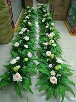 Свадебный цветок расположение, DIY pcakes включают цветы и основание, розы пионы и гортензии листьев