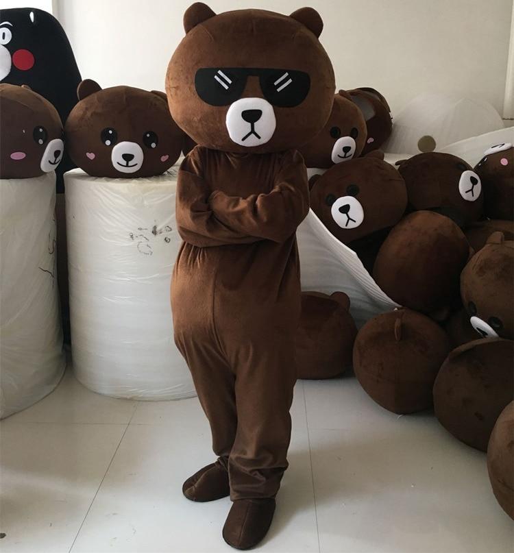 Winnie Bear Mascot Costume Kumamon Mascot Costume Brown Bear Mascot Costume for Adult Cosplay Halloween Fancy Party Dress in Mascot from Novelty Special Use