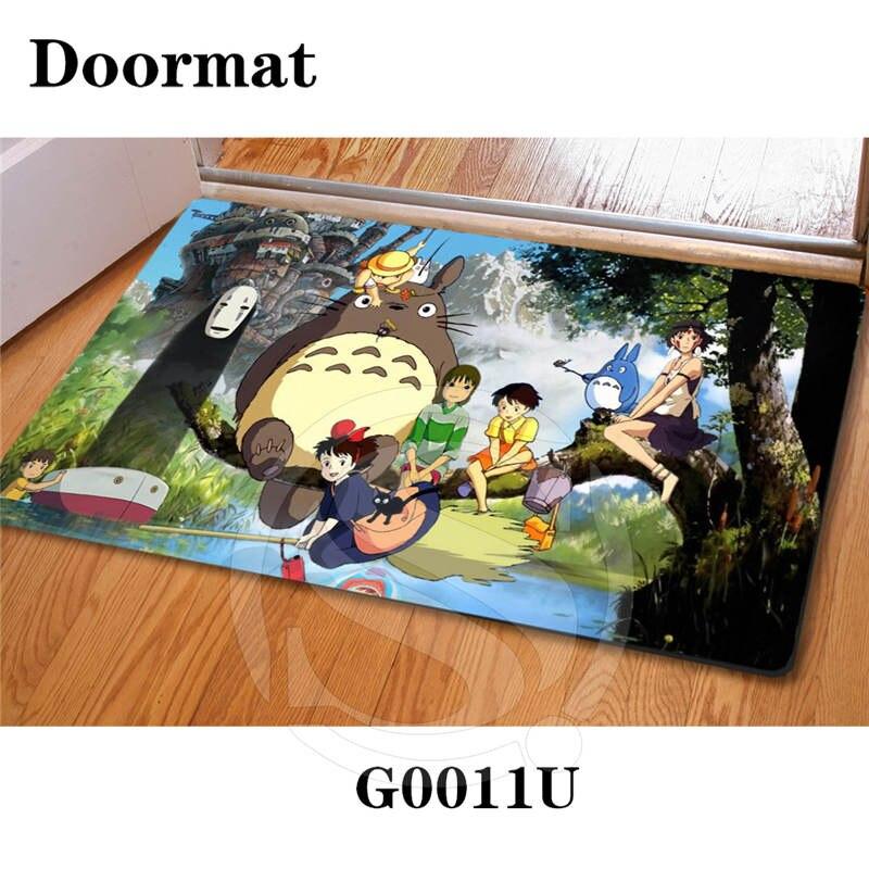 Free Shipping Custom Ghibli Top Craft DoorMat Art Pattern Printed Carpet Floor Hall Bedroom Cool Pad