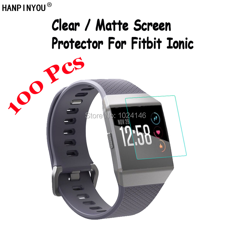 100 Pcs For Fitbit Ionic SmartWach New HD Clear / Anti Glare Matte Screen Protector Protective