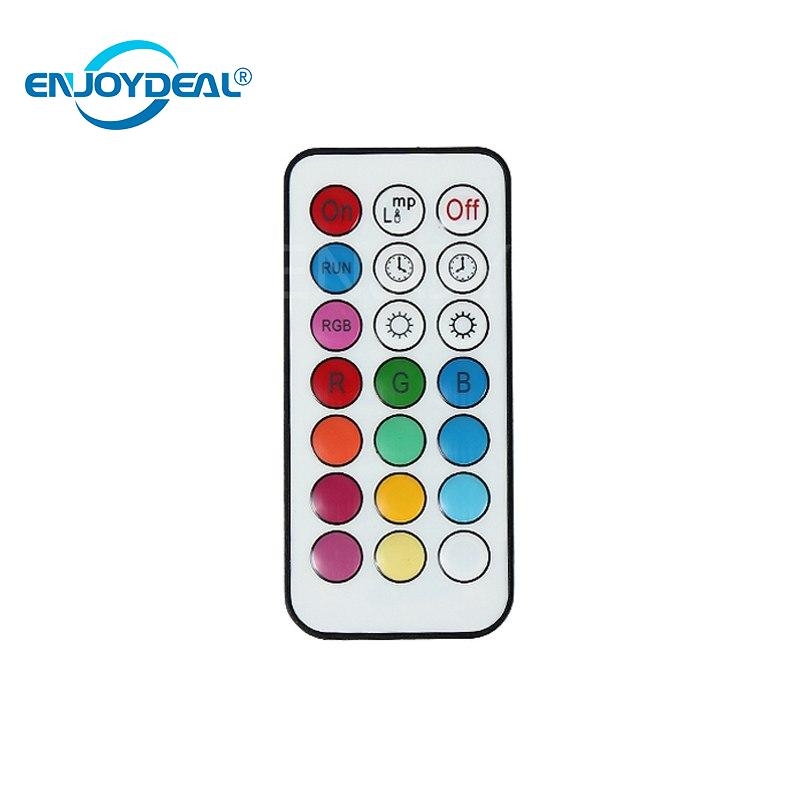 LED Energy Color Lamp + Remote Control 5W AC 100-240V B22 RGB portable high luminous efficiency Saving heat dissipating Lamps