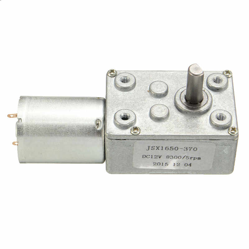 "DC 12 V 5 סל""ד DC מנוע הפיך גבוהה מומנט גיר תולעת JSX1650-370 הפחתת מנוע המחיר הטוב ביותר"
